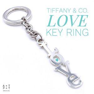 """Tiffany & Co. """"Love"""" Key Ring"""
